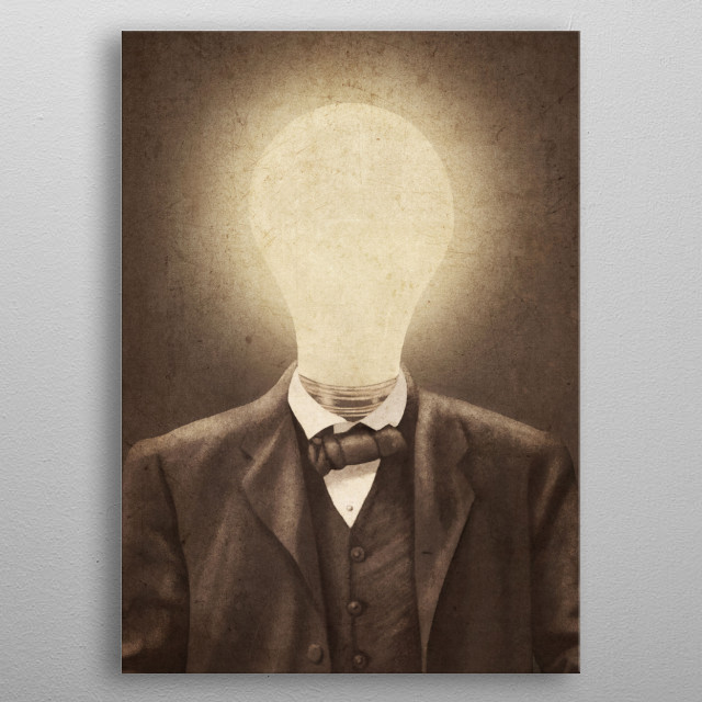 The Idea Man metal poster