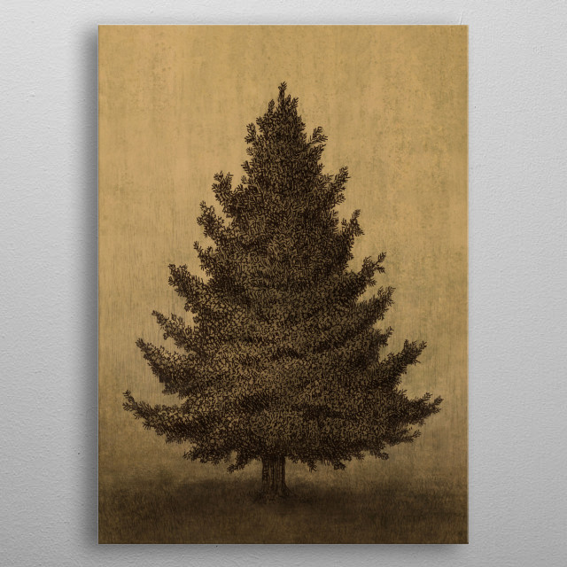 Lonely Pine metal poster