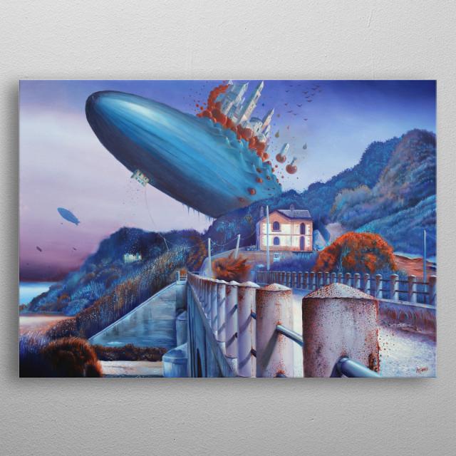 Alessandro Fantini - Cito, longe, tarde Oil on canvas, 50x70 cm. (2013) metal poster