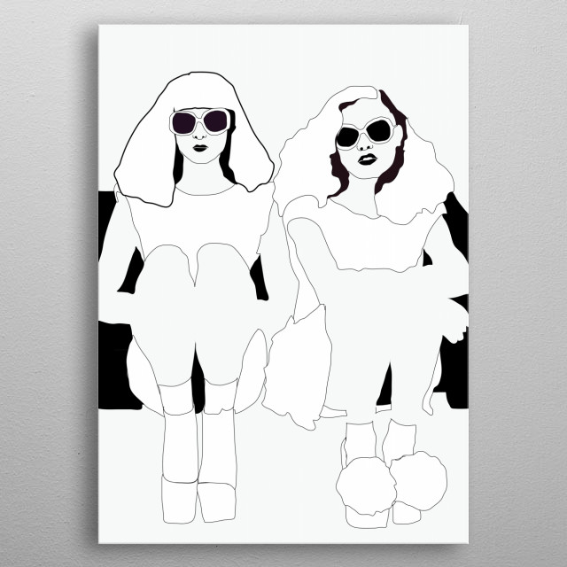 Original digital design. Minimal and simple, would look great in many spaces metal poster