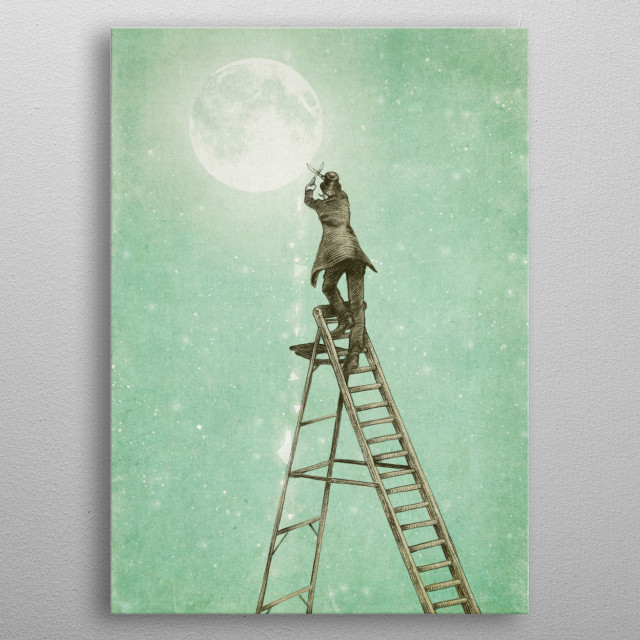 Waning Moon metal poster