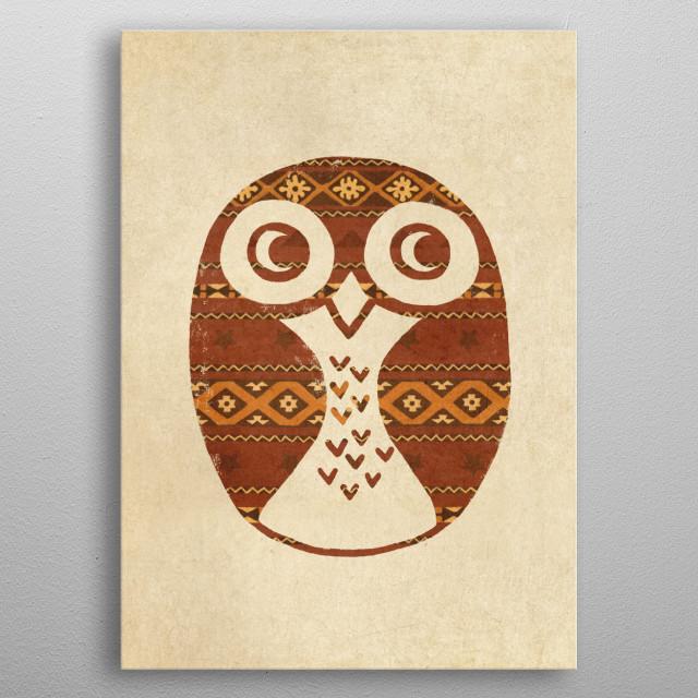 Navajo Owl metal poster