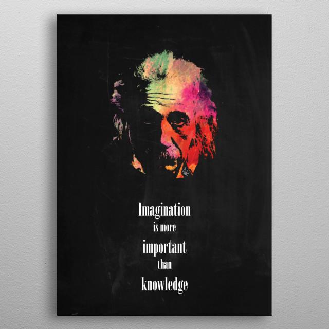 Albert Einstein metal poster