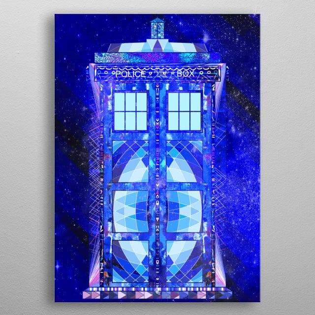 Doctor Who's Tardis metal poster