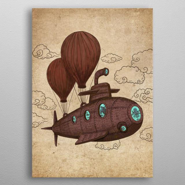 The Fantastic Voyage metal poster