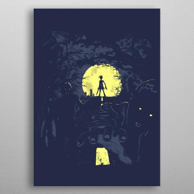 The Last Living Man, vector illustration metal poster