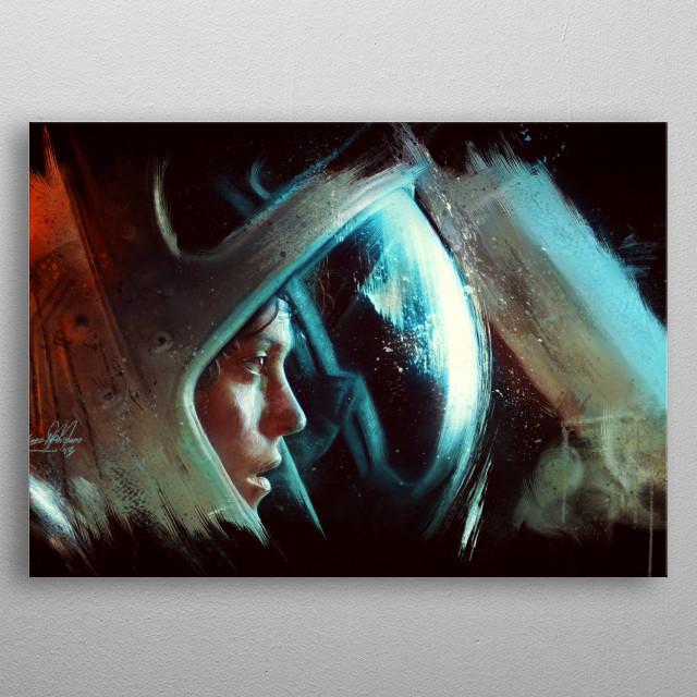 Alien Fan art. Digital oil painting. metal poster
