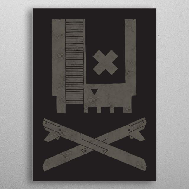 Nes Skull metal poster