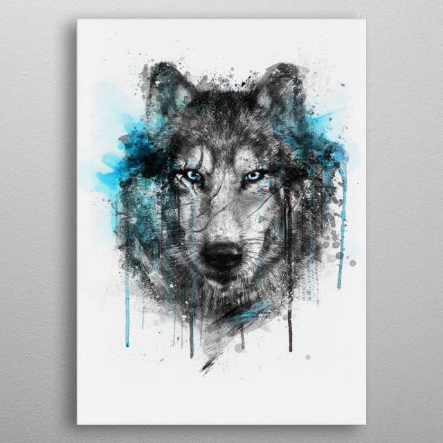 Wolf ( Alpha Series) metal poster