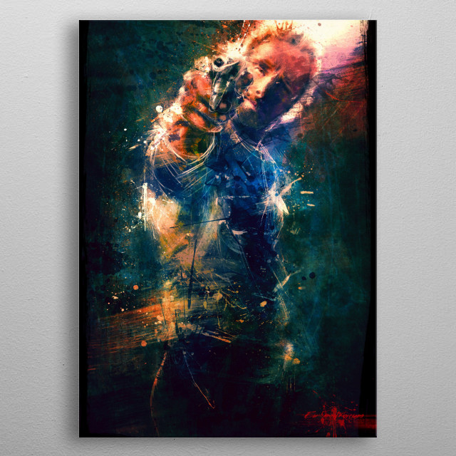 digital oil painting metal poster