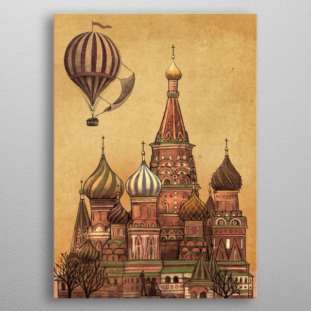 Moving to Moscow metal poster