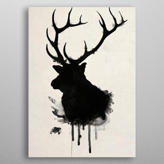 Elk metal poster