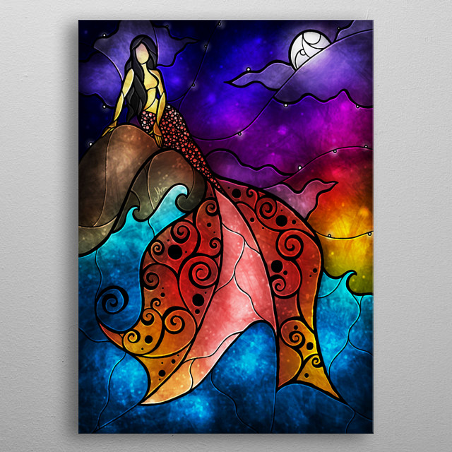 """""""The Little Mermaid"""" 2009-2014. Mandie Manzano. All rights reserved metal poster"""