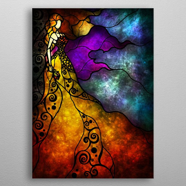 """""""Beauty and The Beast"""" 2009-2014. Mandie Manzano. All rights reserved metal poster"""