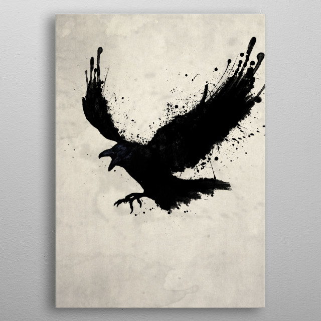 The Raven metal poster