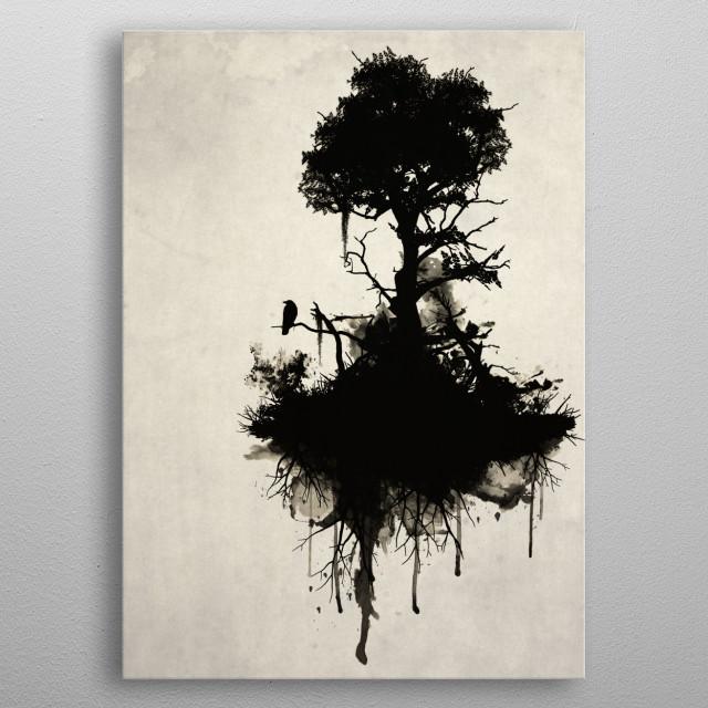 Last Tree Standing metal poster
