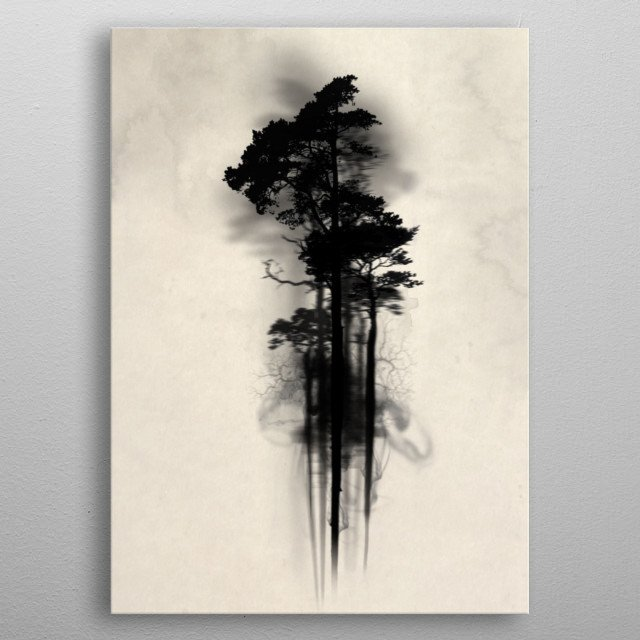 Enchanted Forest metal poster