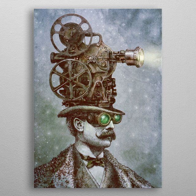 The Projectionist metal poster