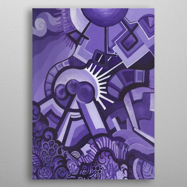 Purple Planet metal poster