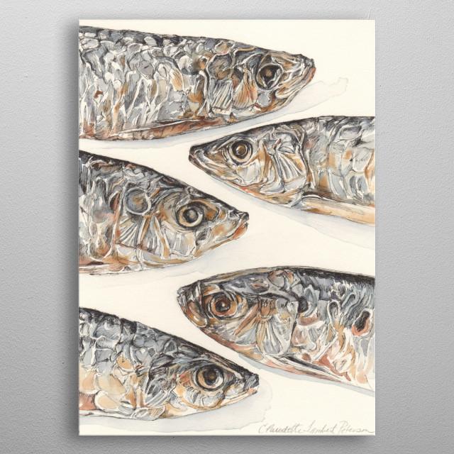 Sardines metal poster
