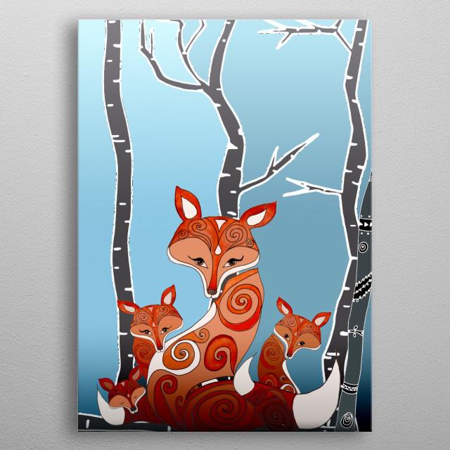 FOX FAMILY metal poster