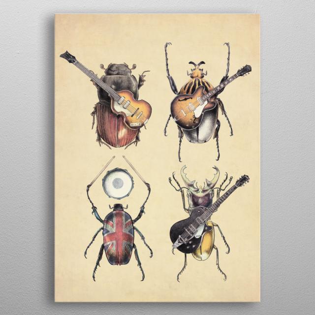 Meet the Beetles metal poster