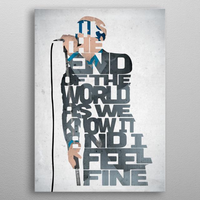 Michael Stipe - R.E.M. metal poster