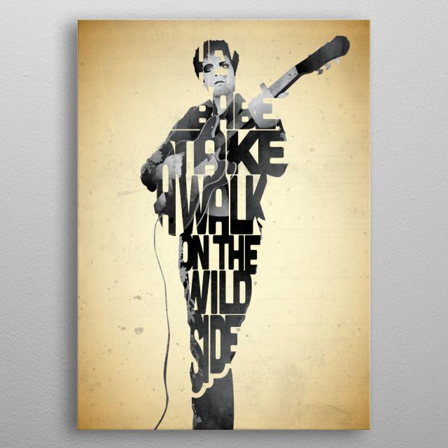 Lou Reed. metal poster