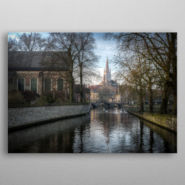 From near the Beguinage looking toward Church of Our La... metal poster