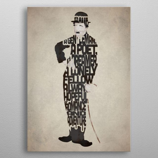 Charlie Chaplin. metal poster