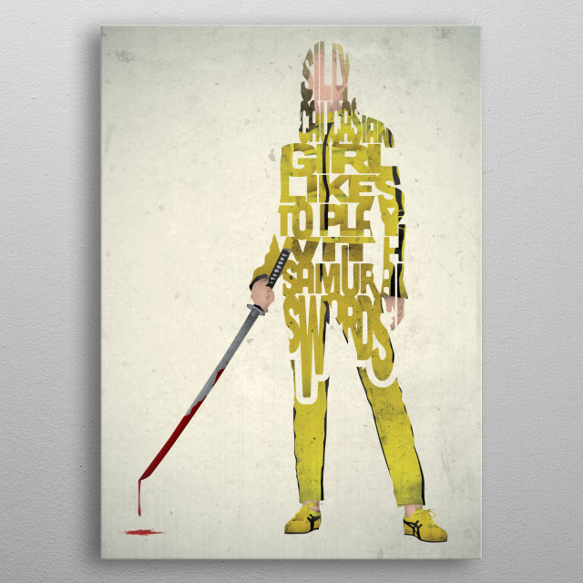 The Bride - Kill Bill. metal poster