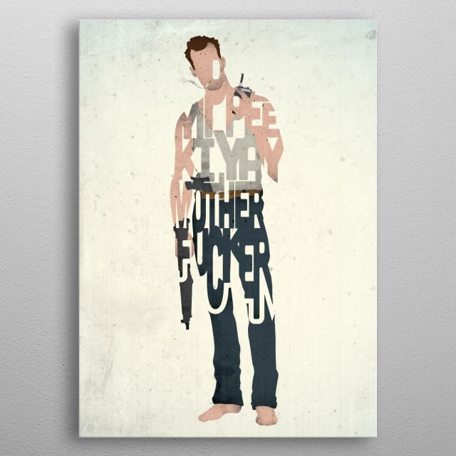 John McClane - Die Hard. metal poster