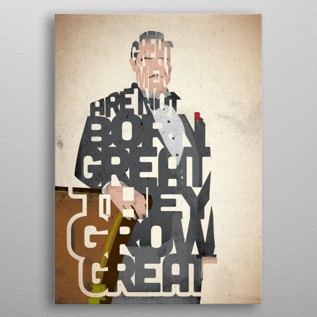 Designed by Pete Ware of 17th and Oak, this Don Vito Corleone typography art is inspired by a quote from the movie The Godfather. metal poster