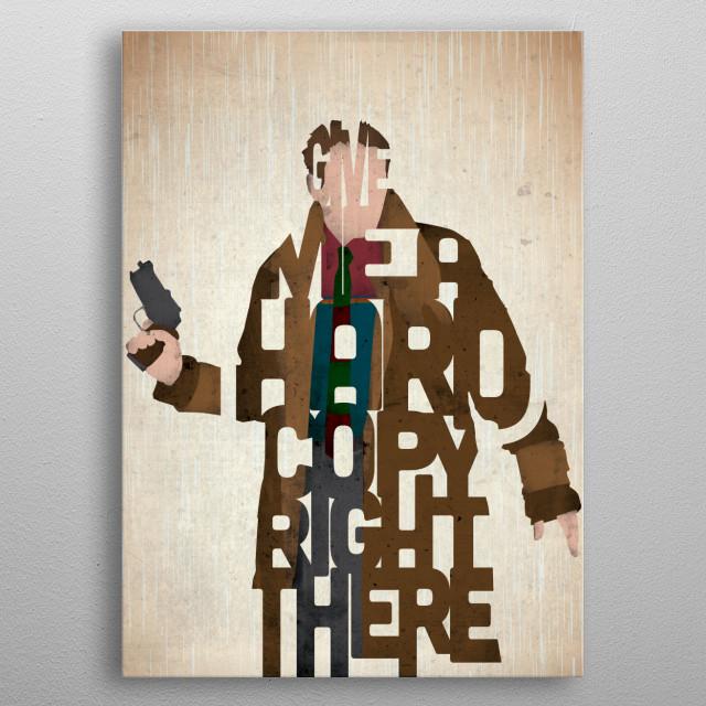 Rick Deckard - Blade Runner. metal poster