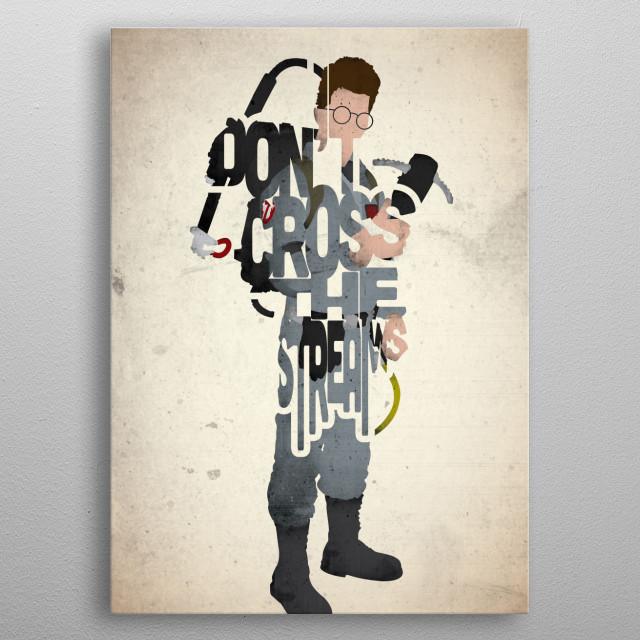 Egon Spengler - Ghostbusters. metal poster