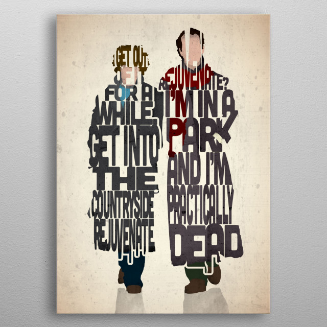 Marwood and Withnail - Withnail and I. metal poster