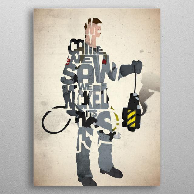 Peter Venkman - Ghostbusters. metal poster