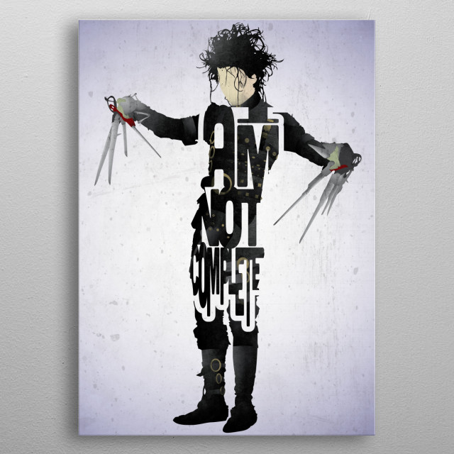 Edward - Edward Scissorhands. metal poster