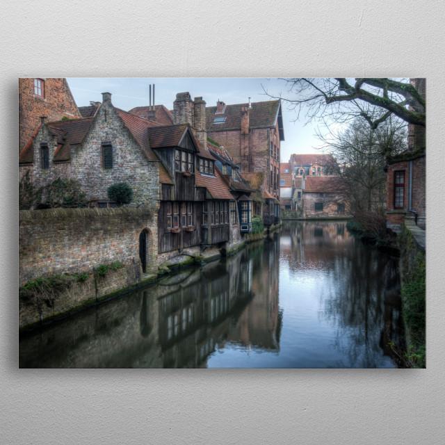 Canal, Bruges metal poster