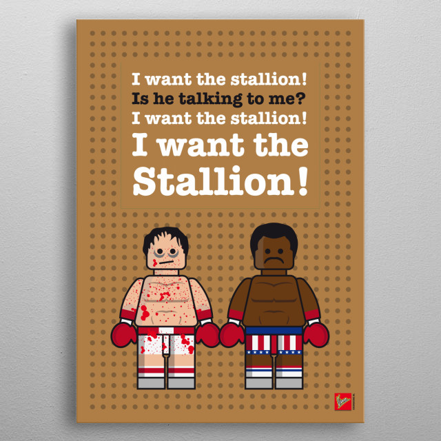 My Rocky Lego Dialogue Poster Movies Poster Print Metal