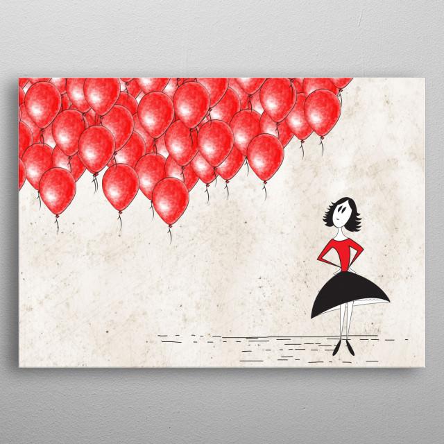 99 Red Balloons By Joanna Cieslinska