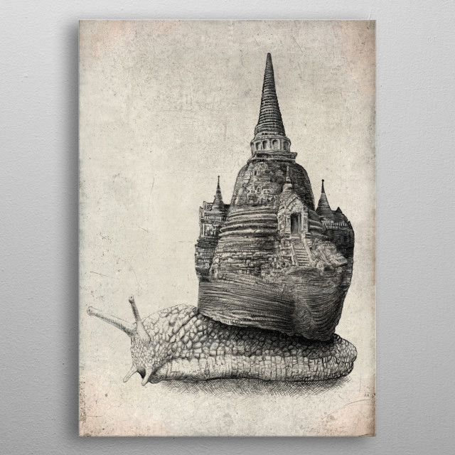 The Snail's Dream metal poster