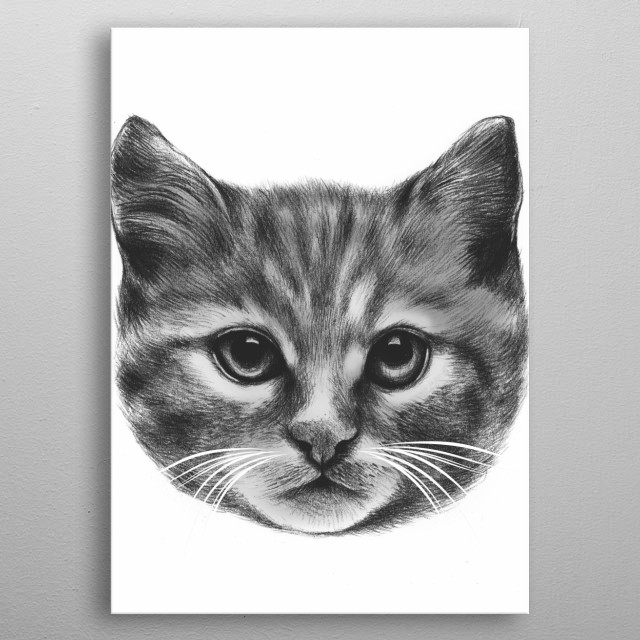 Everybody wants to be a Cat metal poster