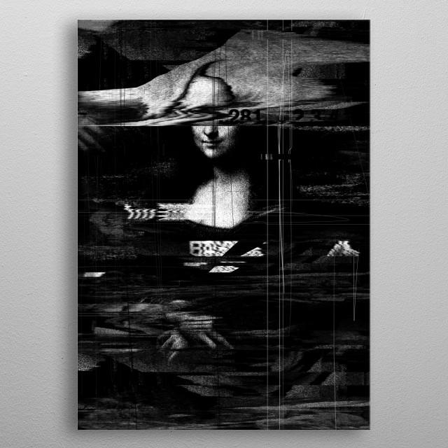 Mona Lisa metal poster