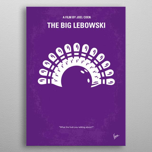 No010 My Big Lebowski minimal movie poster  Dude Lebo .... metal poster