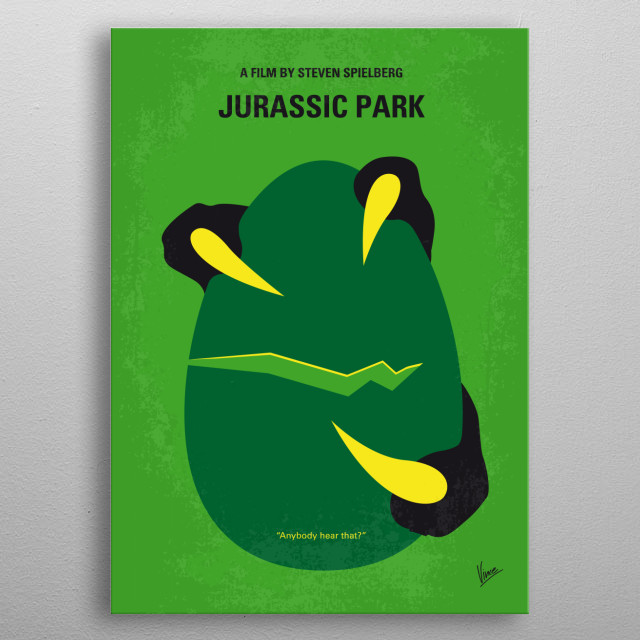 No047 My Jurassic Park minimal movie poster  During a preview tour, a theme park suffers a major power breakdown that allows its cloned dinos... metal poster
