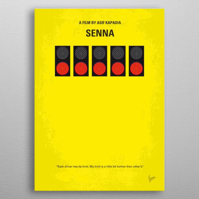 No075 My senna minimal movie poster  A documentary on Brazilian Formula One racing driver Ayrton Senna, who won the F1 world championship thr... metal poster