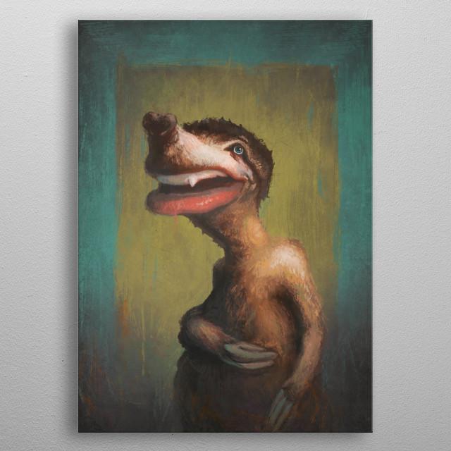 Sir Sloth metal poster