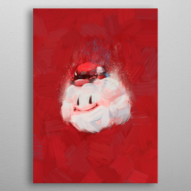 Down - Displate inspired by Super Mario World on SNES metal poster