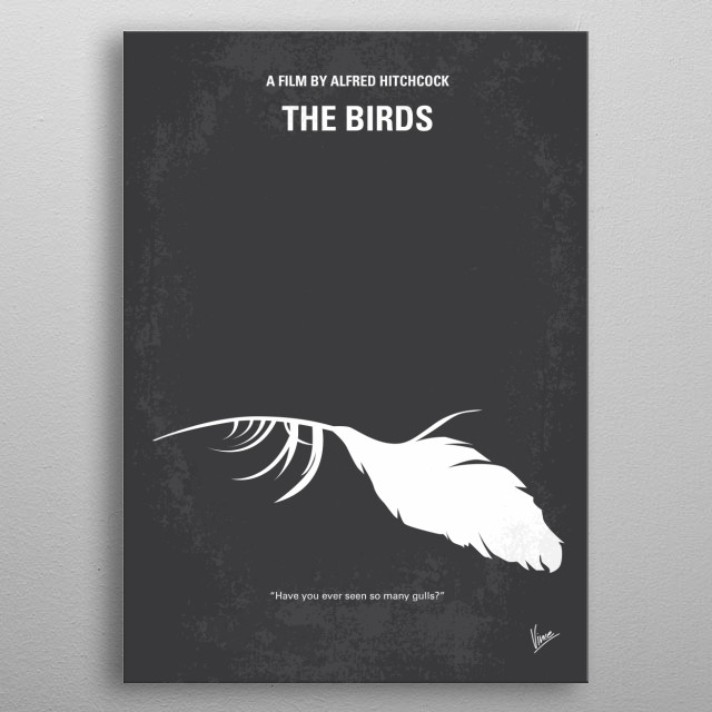No110 My Birds minimal movie poster  A wealthy San Francisco socialite pursues a potential boyfriend to a small Northern California town that... metal poster